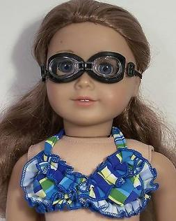 "BLACK Swimming GOGGLES Doll Clothes Accessories For 18"" Amer"