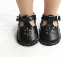 Black T-Strap Doll Shoes For 14.5 Inch Wellie Wishers Americ