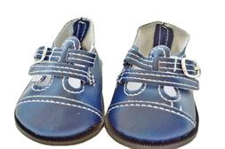 Blue Buckle Doll Shoes Fits 18 Inch American Girl Doll Cloth