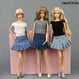 "Blue Jeans Casual Wear Fashion Doll Clothes For 11.5"" Doll K"