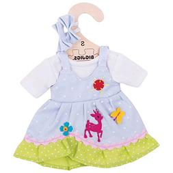 "Bigjigs Toys Blue Spotted Rag Doll Dress for 11"" Bigjigs Toy"