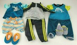 """My Life As BOY 18"""" Doll Clothes Lot of 3 Outfits - Fits Amer"""