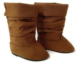 Brown Slouch Boots Doll Shoes made to fit 18 inch American G