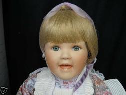 "World Gallery Dolls  By MAVIS SNYDER 16"" Porcelain Cloth Dol"