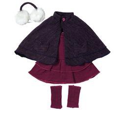 "Adora 18"" Clothing -Snow Bunny Purple Cape, Fits 18"" America"