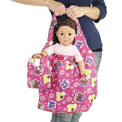 18-inch Doll Travel Carrier Plus Matching Doll Purse - Pink