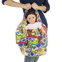 18-inch Doll Travel Carrier Plus Matching Doll Purse - Multi