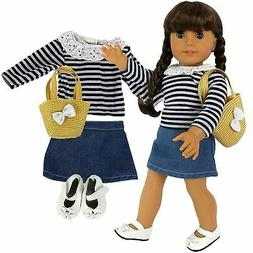 Dress Along Dolly Casual School Outfit for American Girl Dol