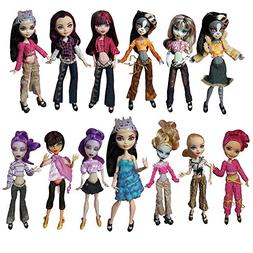 BARWA 10 Sets Doll Clothing Packs Causal Clothes Dress Outfi