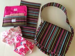 Child's Doll Diaper Bag w/ extras - Handmade - wipes case