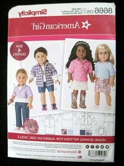 """CHOICE OF NEW SIMPLICITY SEWING PATTERNS 18"""" AMERICAN GIRL D"""