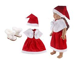 Eric&nicole Christmas Clothes-18 inch American Girl Doll 3 P