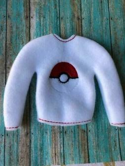CHRISTMAS ELF CLOTHES POKEMON BALL SWEATER 12 INCH BARBIE  D