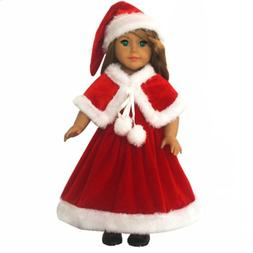 Ebuddy 3pc Christmas Red Color Including Hat Shawl Dresses O