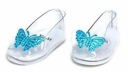 """Cinderella's Slipper Shoes w/Butterflies made for 18"""" Americ"""