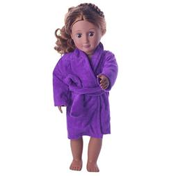 WensLTD Clearance! Cute Soft Robe Dolls Robe Fit For 18 inch