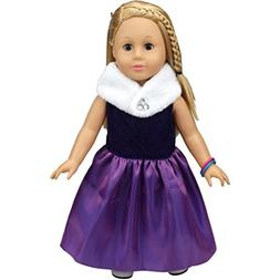 TOOPOOT Clearance Deals Doll Clothes,Satin Organza Full Dres