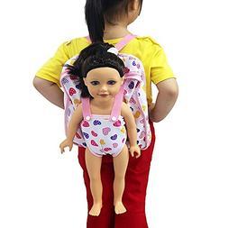 5894f6d3883 WensLTD Baby Doll Carrier Backpack Storage Sleeping Bag Doll