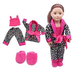 WensLTD Clearance! 5Pcs Lovely Pajamas Set Clothes Shoes for