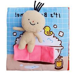 zhenyu Cloth Book Quiet Book Baby Soft Books Cartoon Small D