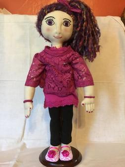 """Cloth Rag Doll Handmade 21"""" All American Angel Doll"""