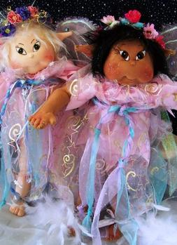 Cloth Soft Sculpture Toddler Fairy Doll Pattern with Instruc