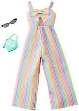 clothes rainbow striped jumpsuit plus 2 accessories