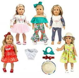 Clothing & Shoes Ebuddy 12pc Doll Clothes Accessories Popula