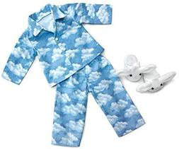 """Clouds Pajamas with Bunny Slippers ~ Fits 18"""" American Girl"""