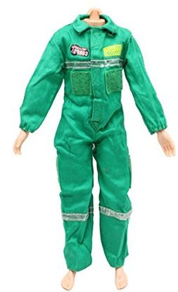Combat medical Uniform jumpsuits Outfit for Ken doll Clothes