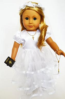 Brittany's My Communion Gown For American Girl Dolls Satin T