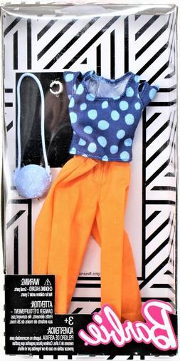 Barbie Fashions Complete Look Blue Polka Dot Top & Peach Pan