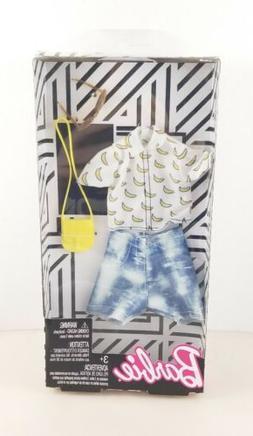 Barbie Complete Looks Banana Print Top & Denim Shorts Fashio