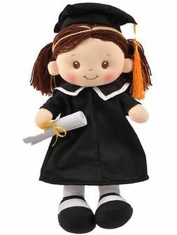 Linzy Congratulations Cloth Rag Doll With Graduation Cap & G
