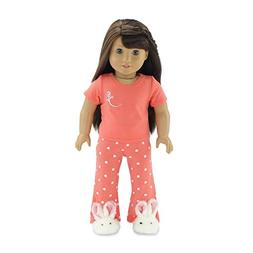 "18 Inch Doll Clothes Coral Pajamas | Fits 18"" American Girl"
