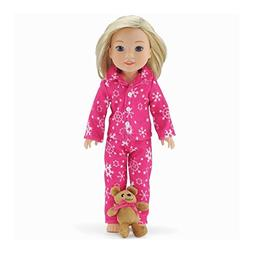 14 Inch Doll Clothes/Clothing | Cozy Pink and White Snowflak