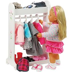 CP Toys Today's Girl Doll Clothes Rack with Hangers for Stan