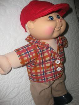 CPK 14 inch boy doll clothes/plaid shirt/pants/cap