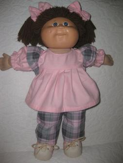 cpk doll clothes 16 18 inch plaid