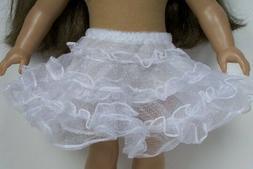 "CRINOLINE Petticoat Slip On Underskirt Doll Clothes For 18"""