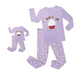 Elowel Cupcake Matching Girls & Doll 2 Piece Toddler Kids Pa