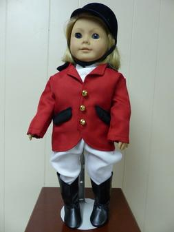 "CUSTOM HANDMADE HORSE RIDING OUTFIT FITS 18"" AMERICAN GIRL D"