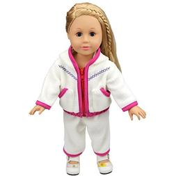 Cute Baby Doll Clothes Thick White Fleece Hoodie Pants Outfi