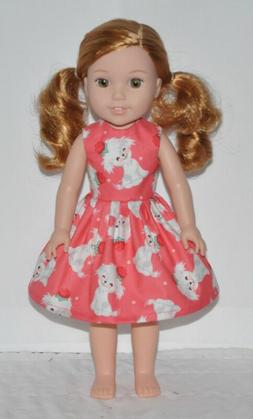 Cute Puppy Doll Dress Clothes Fits American Girl Wellie Wish