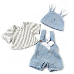 Cute Rabbit Clothes for 20 Inch Reborn Baby Dolls Newborn Si