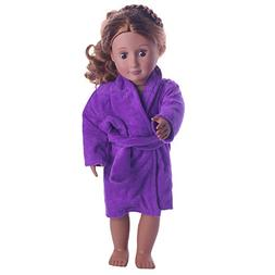 Cute Soft Robe Pajamas Nightgown Clothes for 18 inch Doll Cl