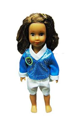 My Brittany's Cyan/White Soccer Outfit For Mini American Gir