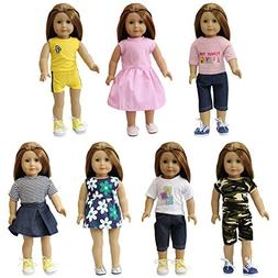 ZITA ELEMENT 7 Sets American 18 Inch Girl Doll Clothes | 16""
