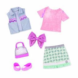 Glitter Girls by Battat – Dazzling Denim Skirt and Top Del