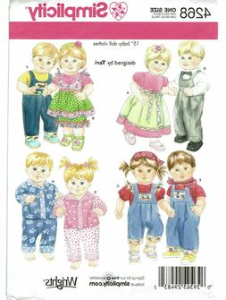 Simplicity Designed by Teri Pattern 4268 Baby Boy and Girl 1